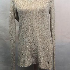 Guess Creme/Gold fleck Longsleeve Sweater